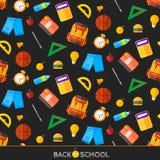 Vektor zurück zu den Schulikonen eingestellt Passend für Fahnen, Printmedien und Webdesign Lizenzfreie Stockbilder