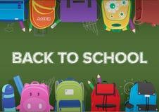 Vektor zurück zu Schule auf Tafel Stockfoto