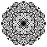 Vektor, Zusammenfassung, ausführliche Mandala Stockbild