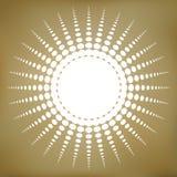 Vektor Zusammenfassung punktiertes Sun-Symbol Lizenzfreie Stockfotos