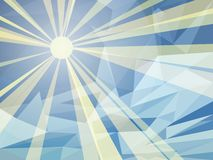 Vektor-Zusammenfassungs-blauer Hintergrund von Sunny Day vektor abbildung