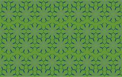 Vektor-Zusammenfassungs-Blumenmuster auf grünem Hintergrund vektor abbildung