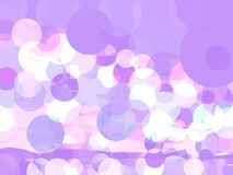 Vektor-Zusammenfassungs-lila Hintergrund mit Kreisen lizenzfreie abbildung