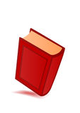 Vektorabbildung das rote große Buch Lizenzfreies Stockfoto