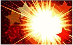 Vektorabbildung der bunten Sterne explodieren. Lizenzfreies Stockfoto