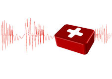 Vektorabbildung der Cardiogram Stockfoto