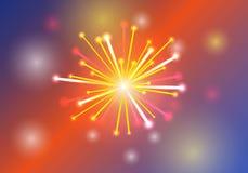Vektorabbildung der Feuerwerke Lizenzfreies Stockbild