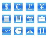 Vektorabbildung der Geschäftsikonen Stockfotos
