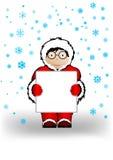 Vektorabbildung der Junge im Weihnachten Stockfotografie