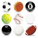 Vektorabbildung der Sportkugeln Lizenzfreie Stockfotografie