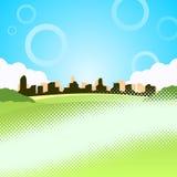Vektorabbildung der Stadt Stockbilder