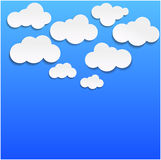 Vektorabbildung der Wolken Stockfotografie