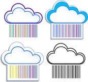 Vektorabbildung der Wolken Stockfoto