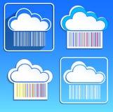 Vektorabbildung der Wolken Lizenzfreie Stockbilder