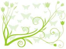 Vektorabbildung des abstrakten Blumenhintergrundes Stockbilder