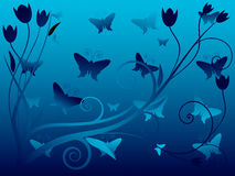 Vektorabbildung des abstrakten Blumenhintergrundes Stockfotos