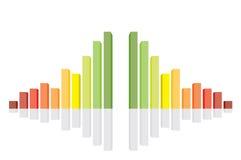 Vektorabbildung des Diagramms 3d Lizenzfreies Stockbild