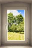 Vektorabbildung des Fensters mit schwarzem Feld Lizenzfreies Stockfoto