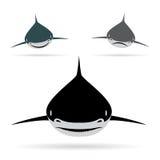Vektorabbildung des Haifischs Stockfoto