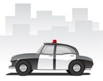 Vektorabbildung des Karikatur-Polizeiwagens Stockfotos