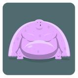 Vektorabbildung des lustigen rosafarbenen Monsters Lizenzfreie Stockfotografie