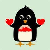 Vektorabbildung des Pinguins Stockfoto