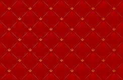 Vektorabbildung des roten ledernen Hintergrundes Lizenzfreie Stockbilder