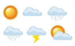 Vektorabbildung des Wetters vektor abbildung