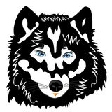 Vektorabbildung des Wolfs auf Weiß Stockfotografie