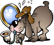 Vektorabbildung eines Prüfer-Hundes Stockfotos