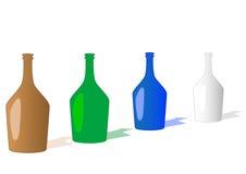 Vektorabbildung Flaschen Lizenzfreie Stockbilder