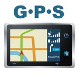 Vektorabbildung. GPS lizenzfreie abbildung