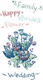 Vektorabbildung - Hochzeit Blumen und beautifu Stockfoto