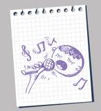 Vektorabbildung Karaoke Lizenzfreies Stockbild