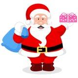 Vektorabbildung von einem netten Weihnachtsmann Lizenzfreies Stockfoto