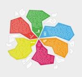 Vektorabstrakt begrepp fragmenterar den infographic mallen Fotografering för Bildbyråer