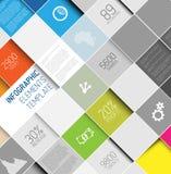 Vektorabstrakt begrepp kvadrerar bakgrundsillustrationen/den infographic mallen Royaltyfria Bilder