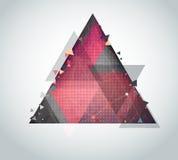 Vektorabstrakt begrepp med triangeln på bakgrund Arkivfoto