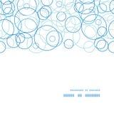 Vektorabstrakt begreppblått cirklar horisontalramen Arkivfoto