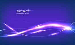Vektorabstrakt begreppblått vinkar bakgrund för ljus effekt stock illustrationer