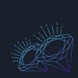 Vektorabstrakt begrepplinje diamantstenbakgrund med stället för tex vektor illustrationer