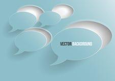 Vektorabstrakte Hintergrundblase. Papier Stockfotos