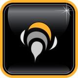 Vektorabstrakte Internet-Ikone Stockbild
