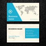 Vektorabstrakte kreative Visitenkarten Lizenzfreies Stockfoto