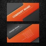 Vektorabstrakte kreative Visitenkarten Lizenzfreie Stockfotografie