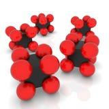 Vektorabstrakte Moleküle Stockfoto