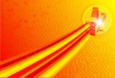 Vektorabstrakte rote gelbe Hintergründe Stockfotos