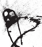 Vektorabstrakte schwarze Spraytropfen Stockfoto