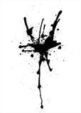 Vektorabstrakte schwarze Spraytropfen Lizenzfreie Stockfotografie