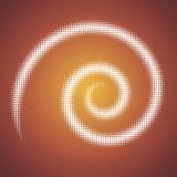 Vektorabstrakte Spirale vektor abbildung